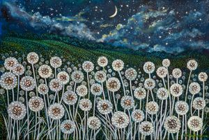 "IZDUBAR'S DREAM IN ""THE LAND OF NOD"" - Sally Harrison's Dot Paintings"