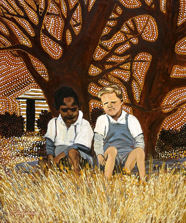 MY BLOOD BROTHERS,  HARI'S SONS - Sally Harrison's Dot Paintings