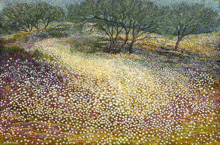 MY BENEFACTOR, IPSWICH ART GALLERY - Sally Harrison's Dot Paintings