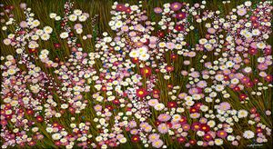 DUENDE - DAISIES AT D'AL-WALL-IN-U - Sally Harrison's Dot Paintings