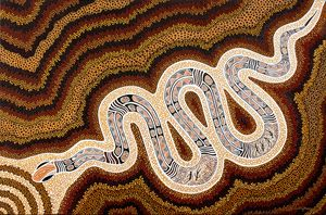 N-GAL-YOD'S GIGANTIC TSUNAMI - Sally Harrison's Dot Paintings