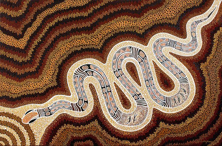N-GAL-YOD'S GIGANTIC TSUNAMI - Sally Harrison's Dot Paintings