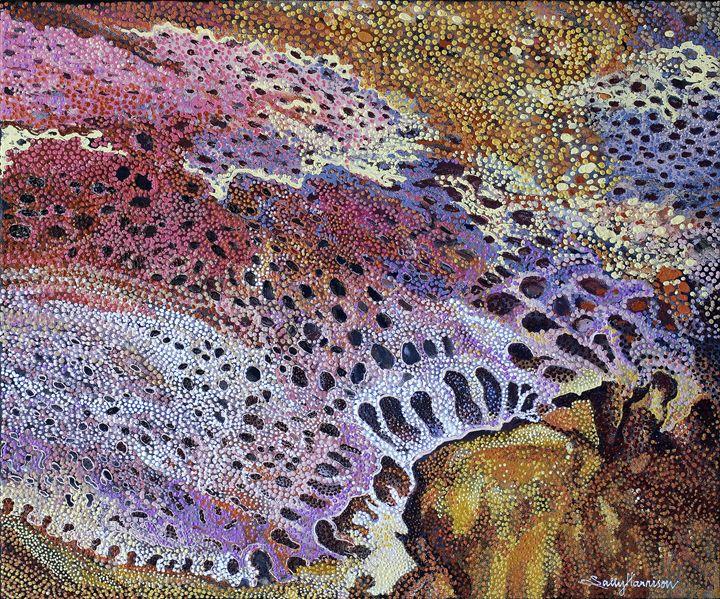 KALBAR-RI, WA KALBAR IN QLD & IRAN - Sally Harrison's Dot Paintings