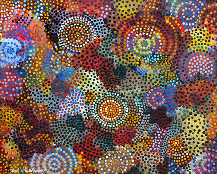 BUSH LORE - LESSONS TOMMY TAUGHT ME - Sally Harrison's Dot Paintings