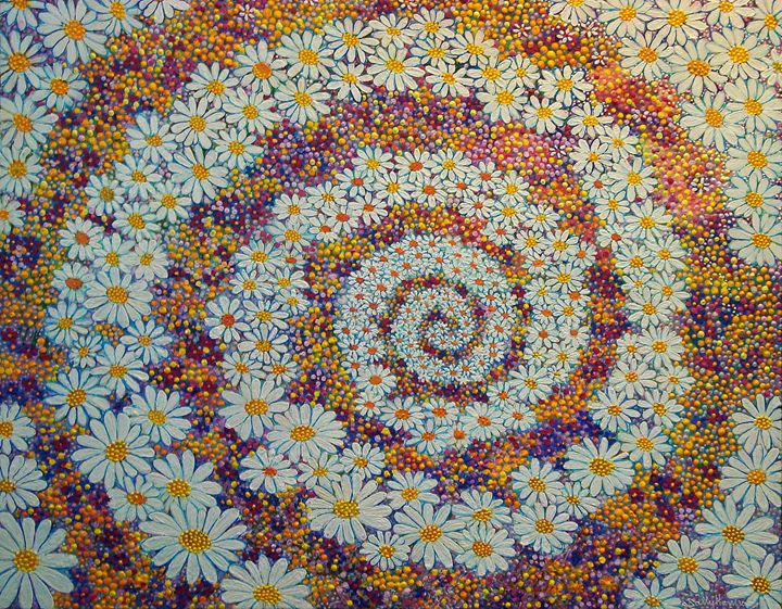 AN ANCIENT CELTIC SYMBOL OF PURITY - Sally Harrison's Dot Paintings