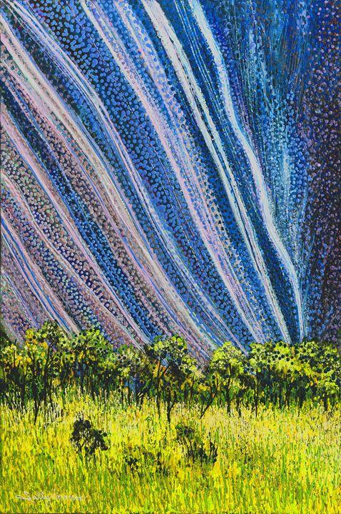 ULURU GULA-BAU & AMEN THE HIDDEN ONE - Sally Harrison's Dot Paintings