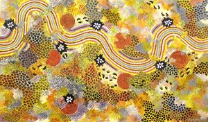 JESSIE/MUM GRAN-MA, MIN & GUBBA MIN - Sally Harrison's Dot Paintings