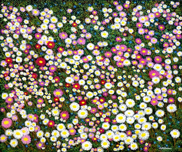 DALWALLINU SURPRISE IN THE WHEATBELT - Sally Harrison's Dot Paintings