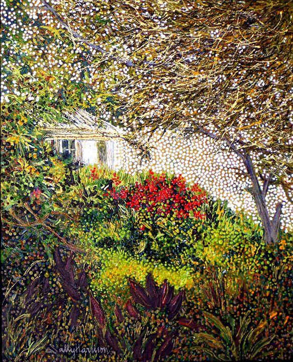 EA 'IM HOTEP'S SECRET GARDEN GERROA - Sally Harrison's Dot Paintings