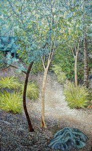 THE SECRET PATHWAY, DENMARK HILL - Sally Harrison's Dot Paintings