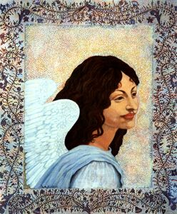 MARGUARITA: MY GUARDIAN ANGEL - Sally Harrison's Dot Paintings