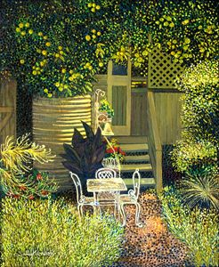 AN OLD HOUSE = MY FATE & DESTINY - Sally Harrison's Dot Paintings
