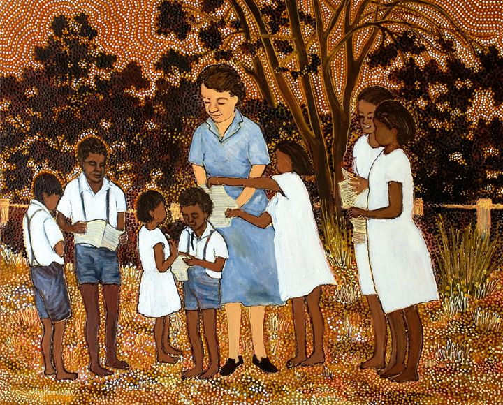 """SISTER KENNEDY & """"THE TEST OF TIME"""" - Sally Harrison's Dot Paintings"""