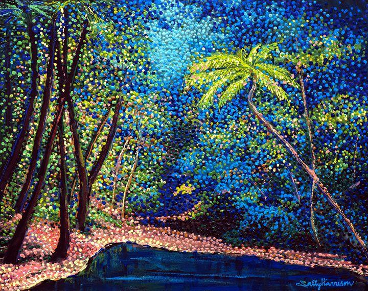 ENLIL/YAHWE-EA'S PUNISHMENT OF ENKI - Sally Harrison's Dot Paintings