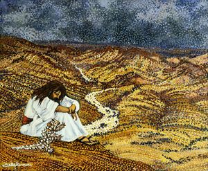 THE ENFORCED IMITATION OF CHRIST - Sally Harrison's Dot Paintings