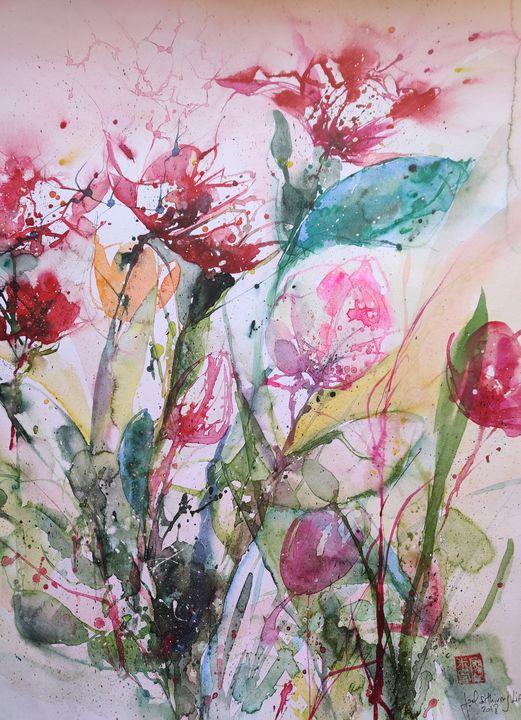 Tulips in the wind - Joel Liao