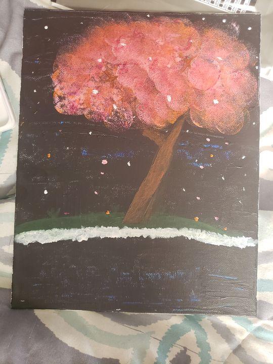 Cherry Blossom at Night - Hailey Boyd