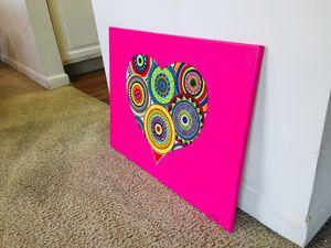 Mandala Heart Acrylic Painting