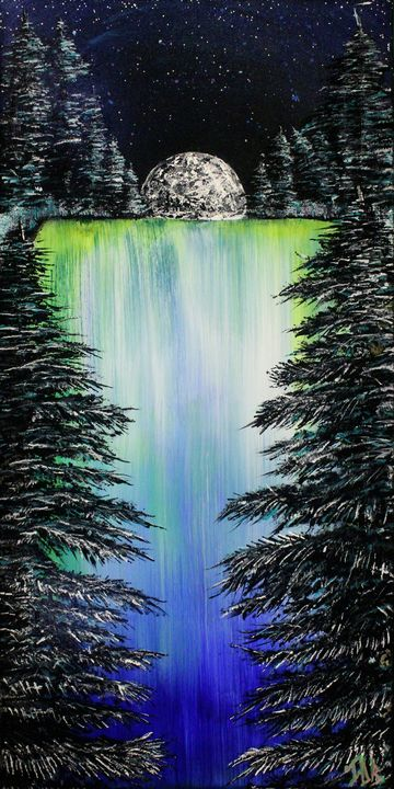 2AM Waterfall - Israel Boring Art