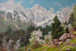 Spring at elbrus region