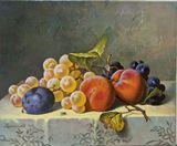 The peaches, original painting