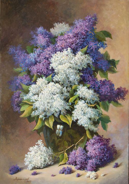 The bouquet of lilacs - Oleg Khoroshilov