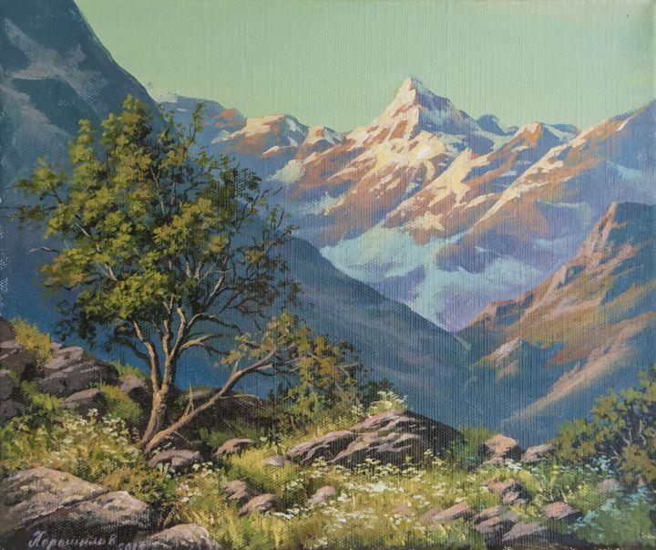 View of Bezengy ridge - Oleg Khoroshilov