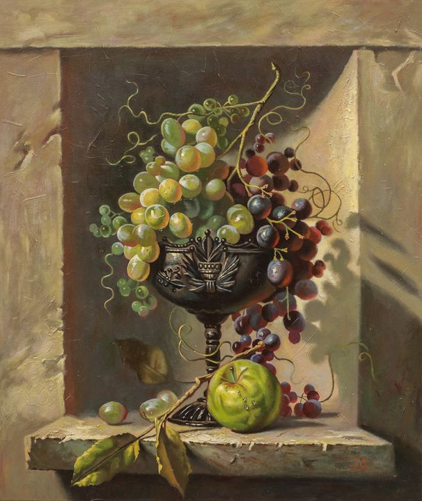 Grapes in the silver cup 2 - Oleg Khoroshilov