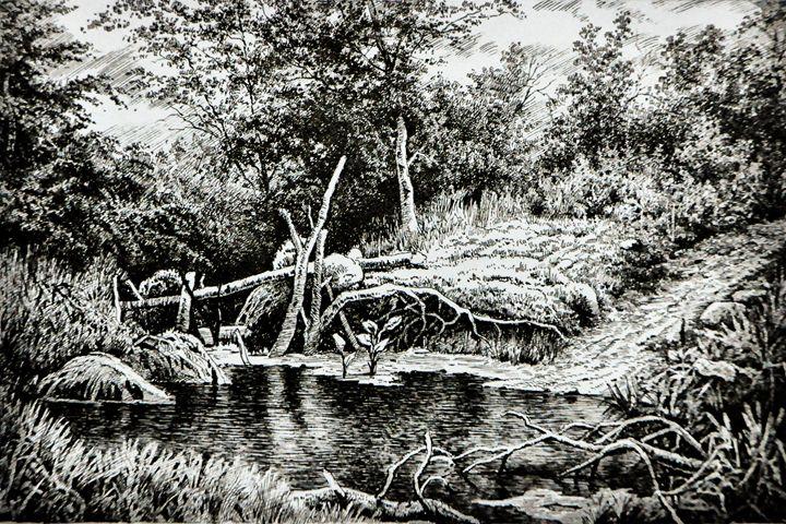 The Forest pond - Oleg Khoroshilov