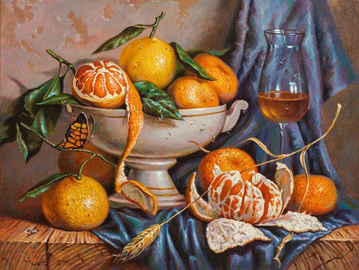 Stil-life with Mandarins - Oleg Khoroshilov