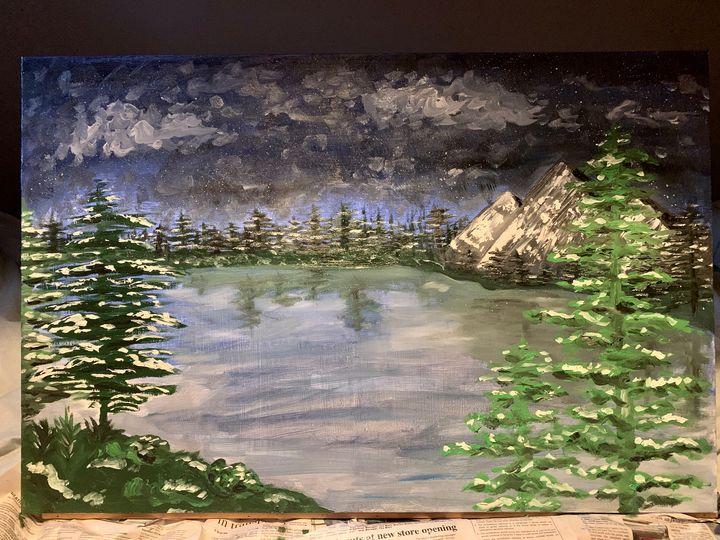 Lake landscape - ngrzesik art