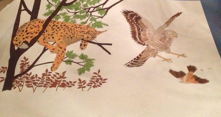 Leper and birds - Siobhaun Robb
