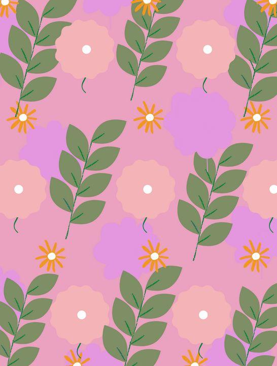 Aster   Blooms Mini Art Print - Emma Art