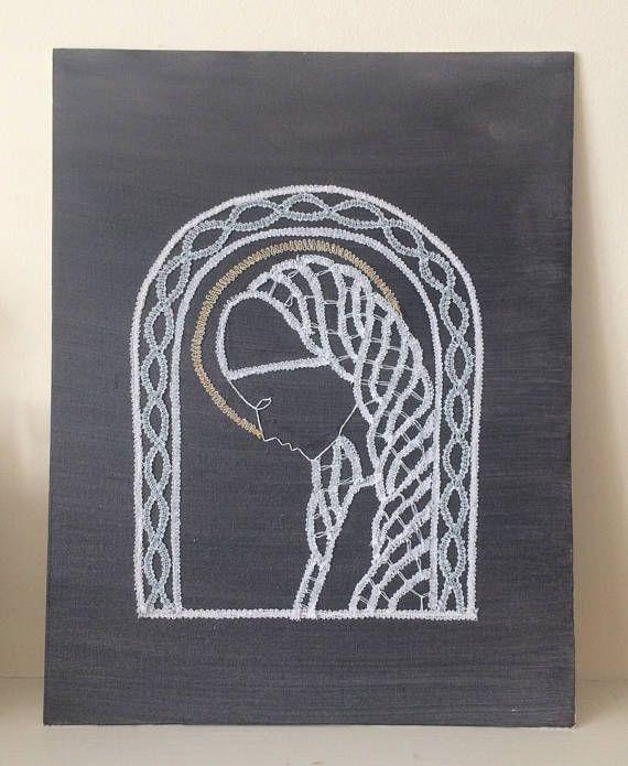 'Madonna Wall Art' mixed media - Mia's Bobbin