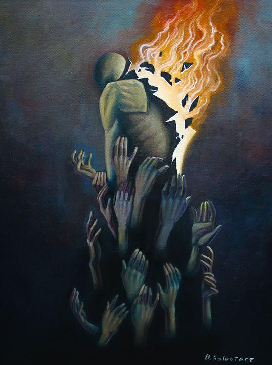 Suppression of Descent - Bret Salvatore Art