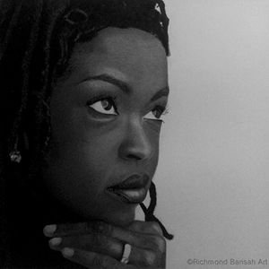 Drawing of Lauryn hill