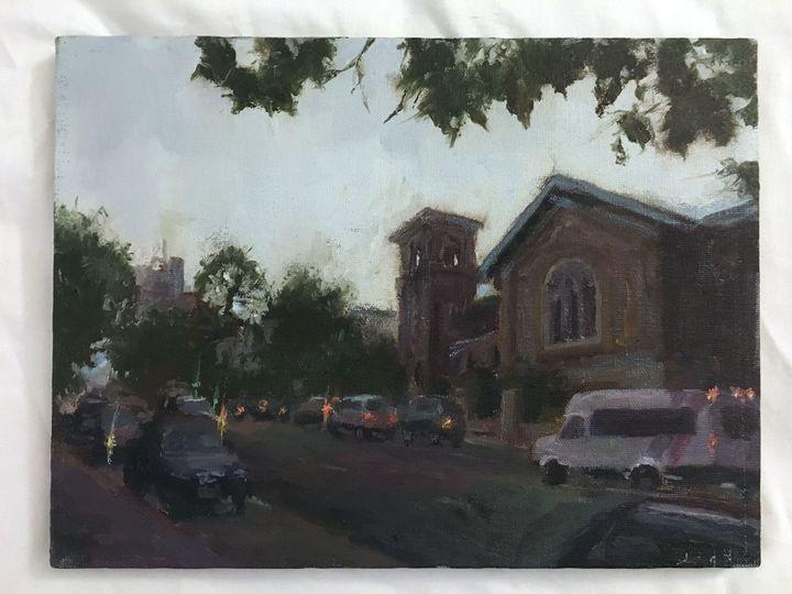 Church on a gloomy day - Alinea Light