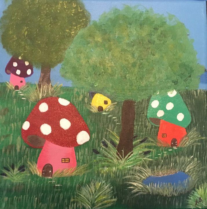 mushroom village - laurb
