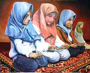 Praying Muslim Girls