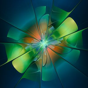 Abstract green flower - sheshart
