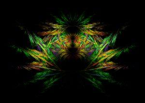 Symmetrical psychedelic shape