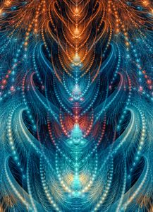 Colorful celestial spine