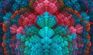 Swarming seashell like texture