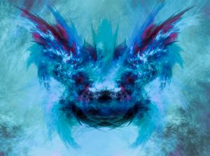 Abstract creature portrait