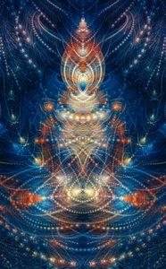 Abstract lotus posture yogi