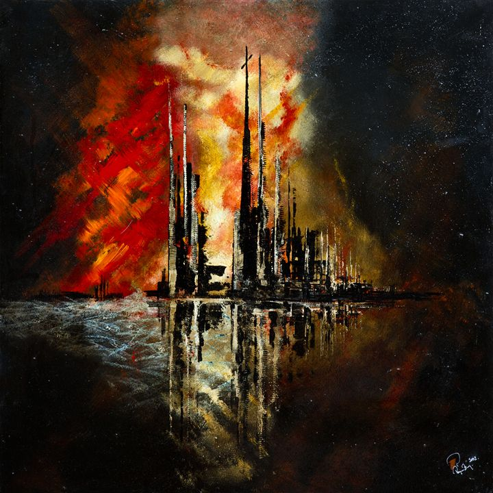 burning city - Roger Berg