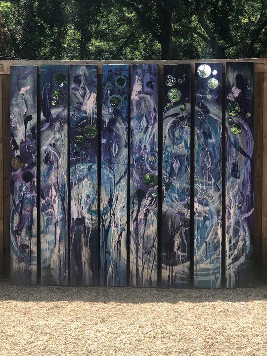 Purple mirror reflects - ArtbyCDY