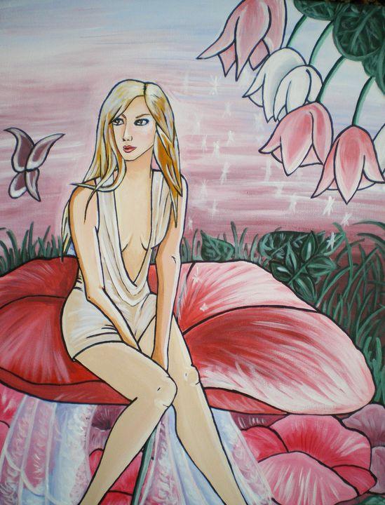 Fairy on flower - Forever Paintings