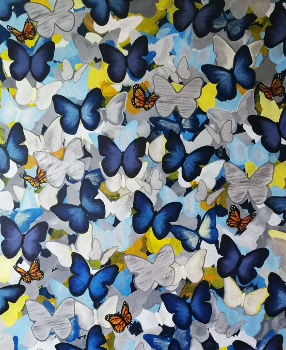 Paper Butterflies - Forever Paintings