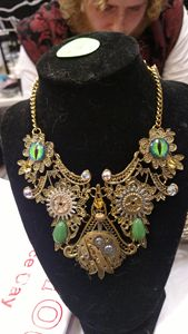 Steampunk Green Dragon Eye Choker